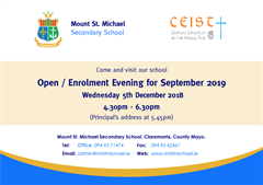 Open/Enrolment Evening 2019/20