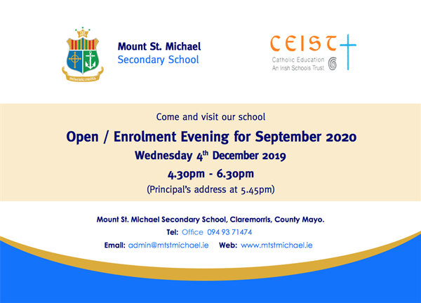 Open/Enrolment Evening 2020/21