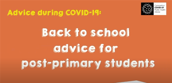 Back to School Advice for Post Primary Students